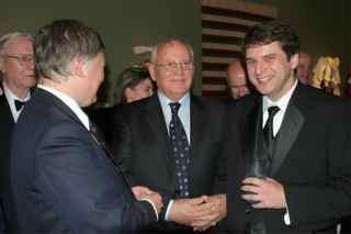 Yury with Gorbachev